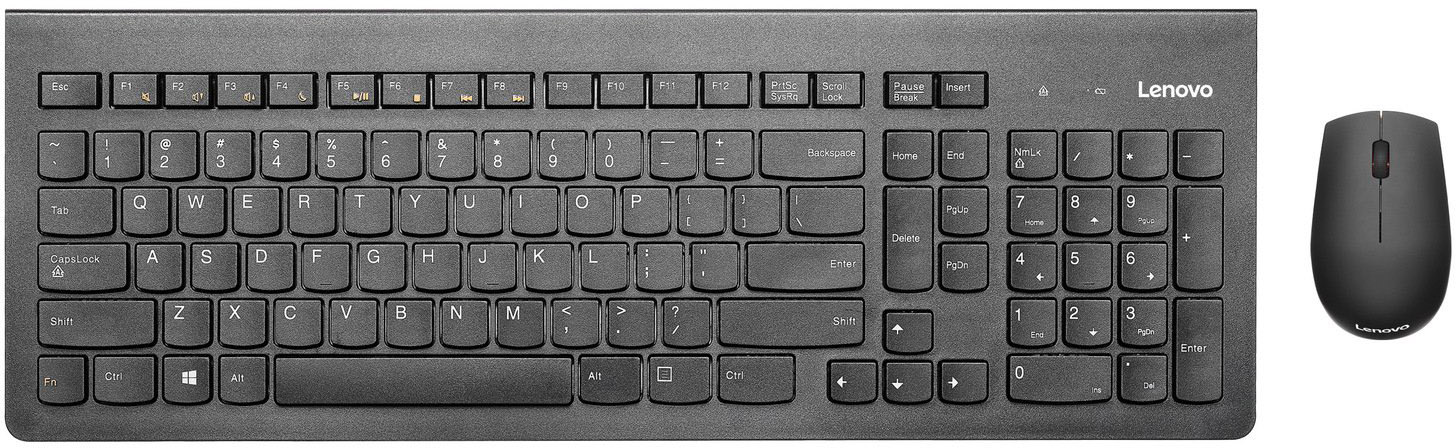 Клавиатура Lenovo 500 Wireless Combo Keyboard & Mouse-RU GX30N71807